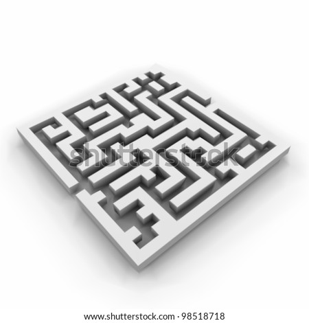 Vector of a maze (labyrinth) - stock vector