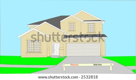 vector of a model home