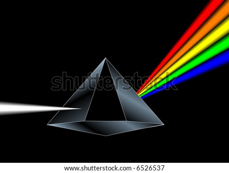Vector of a prism - stock vector