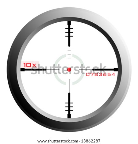 vector of a rifle scope sight with transparency - stock vector