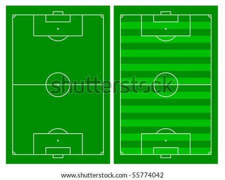 Vector of a soccer field. - stock vector