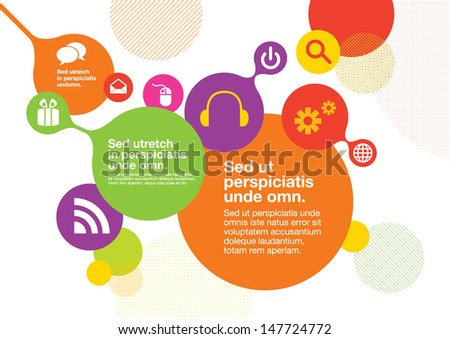 Vector of abstract info graphics and background - stock vector