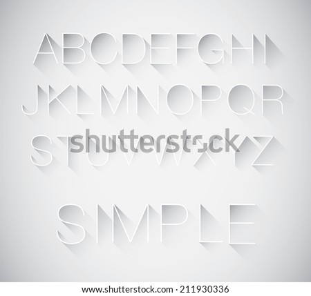 vector of abstract long shadow typography - stock vector