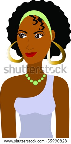 Vector of Afro Girl Avatar. See others in this series. - stock vector