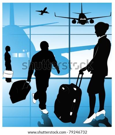 Vector of airline passengers - stock vector