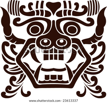 Vector Ancient Chinese Traditional Monster Lion Stock Vector