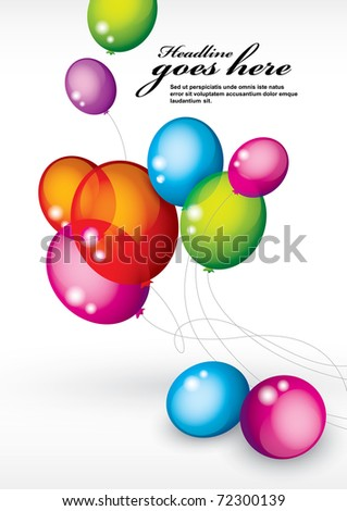 vector of background with multicolored balloons - stock vector