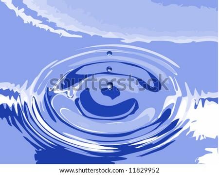 Vector of beautiful blue ripples - stock vector