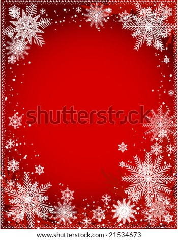 vector of beautiful Christmas dark red frame