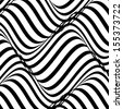 vector of black and white abstract wave background - stock