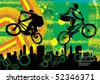 Vector of BMX cyclist - stock photo