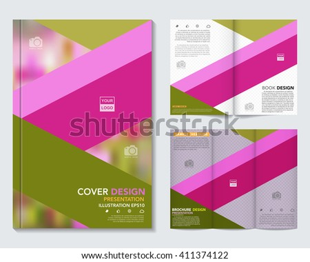 Vector of book cover,brochure,flyer ,annual report template.Illustration eps10 - stock vector