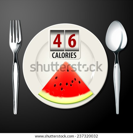 Vector of Calories in Watermelon