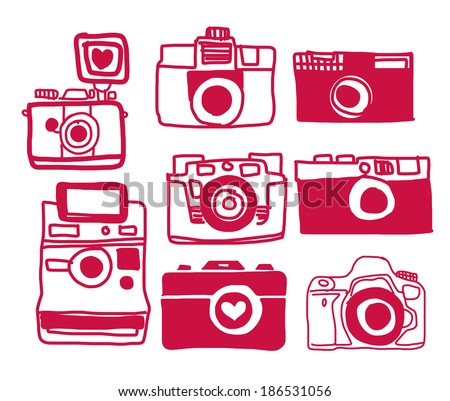 Vector of Camera Freehand - stock vector