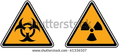 Vector of Caution and hazard signs - stock vector