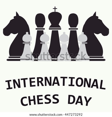 Vector Chess Day Poster Symbol Icon Stock Vector Hd Royalty Free