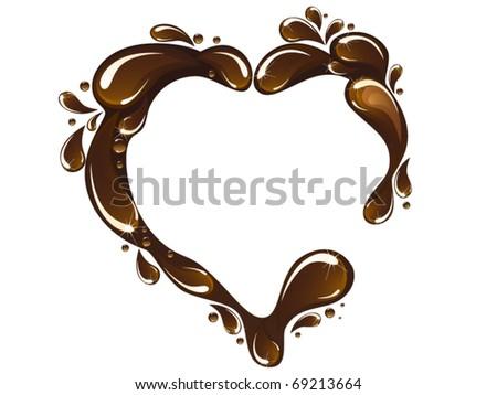 Vector of chocolate heart - stock vector