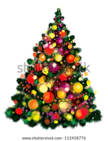 Vector of Christmas tree. - stock vector