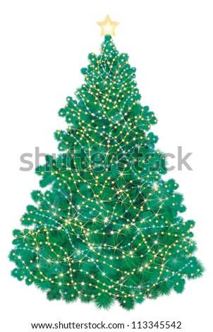Vector of Christmas tree. - stock vector