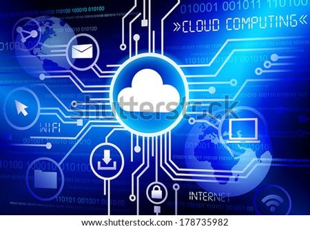 Vector of Cloud Computing - stock vector