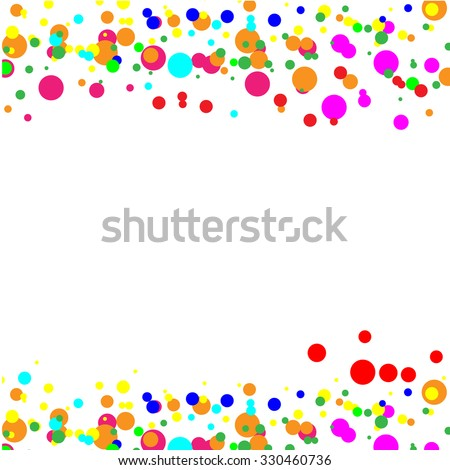 Vector of color dots on white background