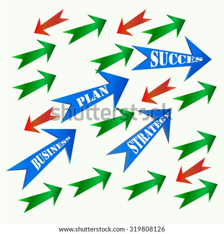 Vector of colored arrows symbol or icon - stock vector
