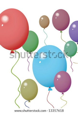 vector of colorful balloons