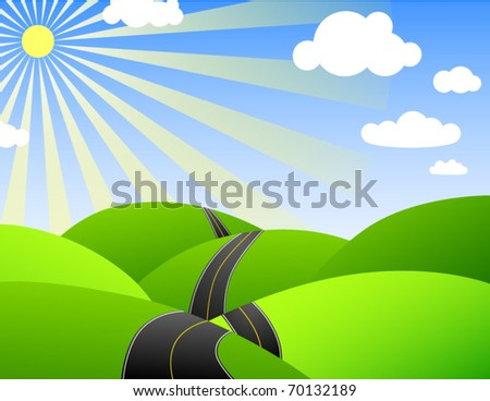 Vector of country landscape - stock vector