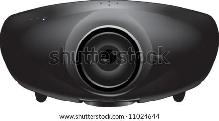 vector of 3D black projector - stock vector
