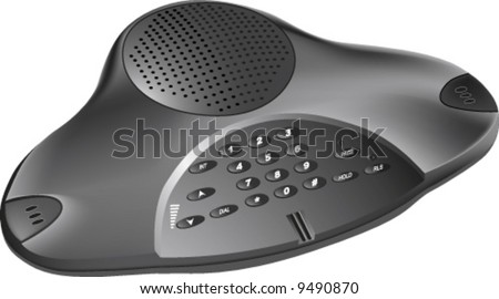 vector of 3D realistic conference phone