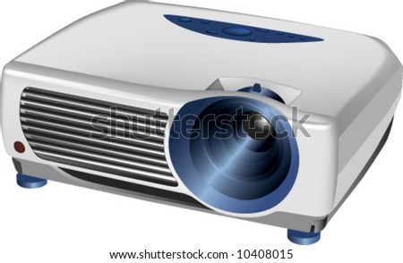 vector of 3d realistic multimedia projector
