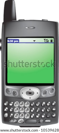 vector of 3D realistic personal cellphone/pda/gps