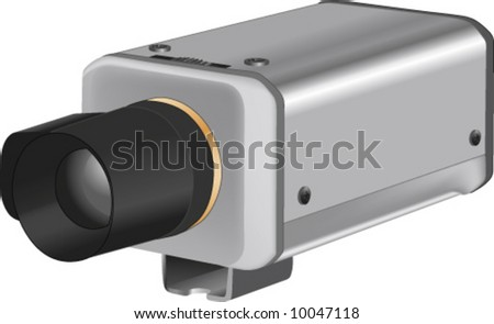 vector of 3d realistic security camera - stock vector