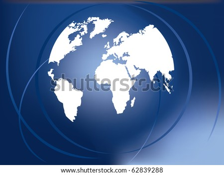 Vector of digital world map - stock vector