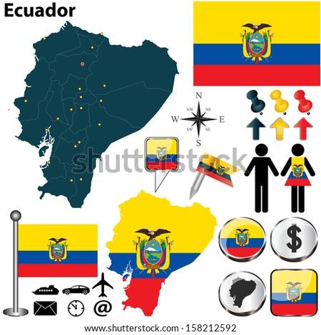 Ecuador Vector Vector of Ecuador Set With