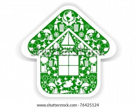 Vector of environmental green home icon