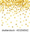 vector of falling down stars shaped confetti - stock