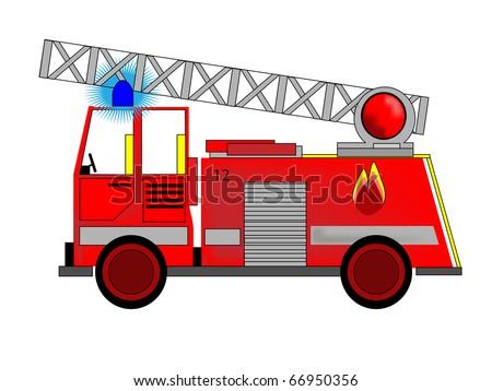 Vector of Fire Engine - stock vector