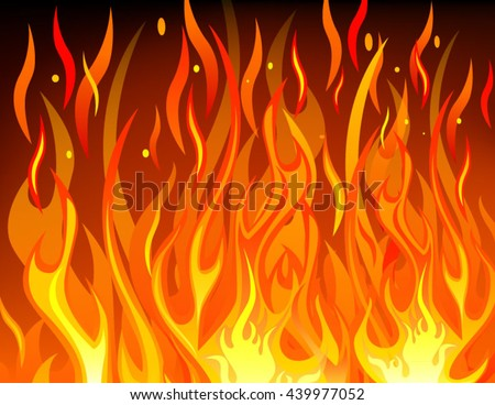 Vector of fire flame
