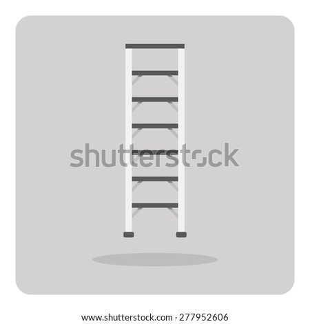 Vector of flat icon, ladder on isolated background - stock vector