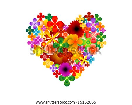 Vector of flower heart