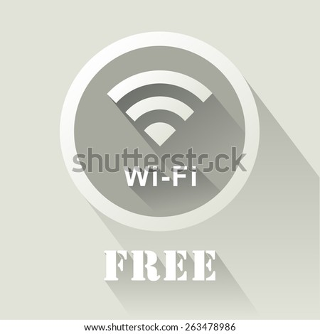 Vector of free wifi icon  - stock vector