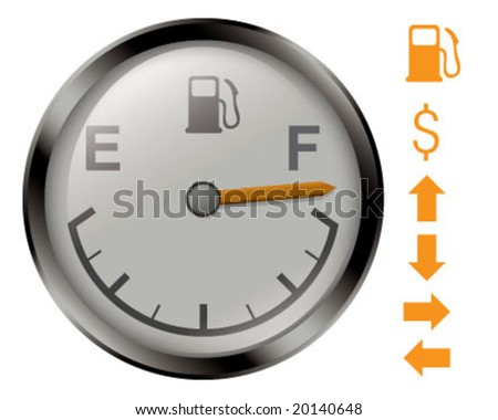 VECTOR of gas gauge (also available in JPEG format)