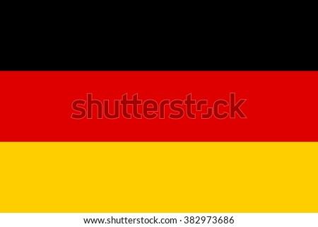 Vector of German flag. - stock vector