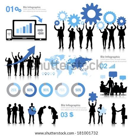 Vector of Global Business Communications - stock vector