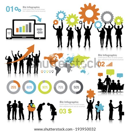 Vector of global business communications. - stock vector