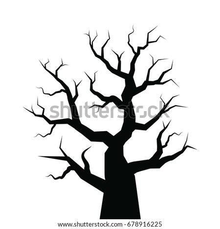 vector of halloween tree
