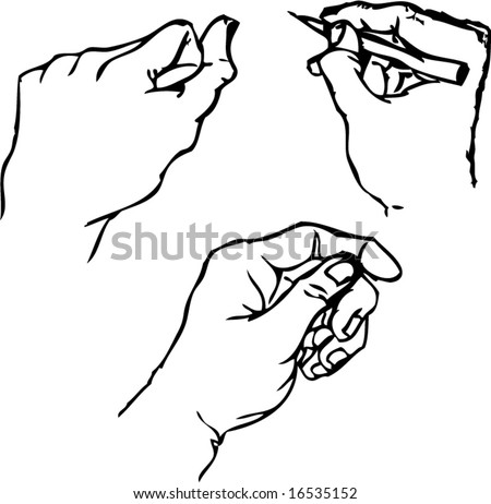 Vector of hand in sketch
