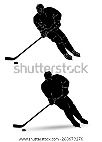 hockey player how to draw