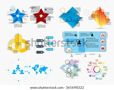 Vector of illustration infographic - stock vector